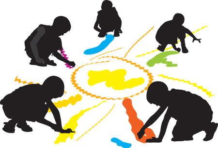 dessin enfants: enfants de dessin Illustration