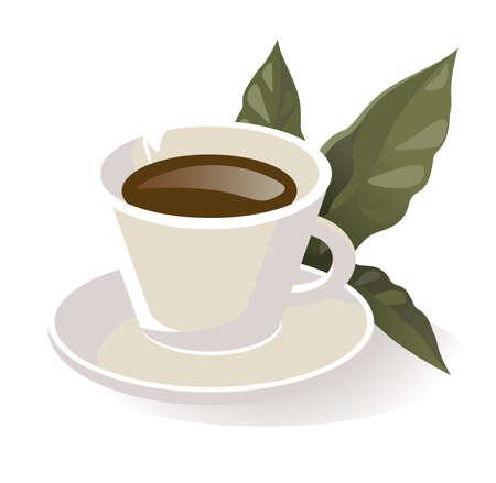 planta de cafe: taza de café