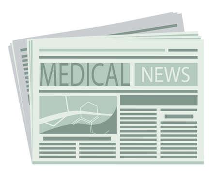 Diario Médico Ilustración de vector