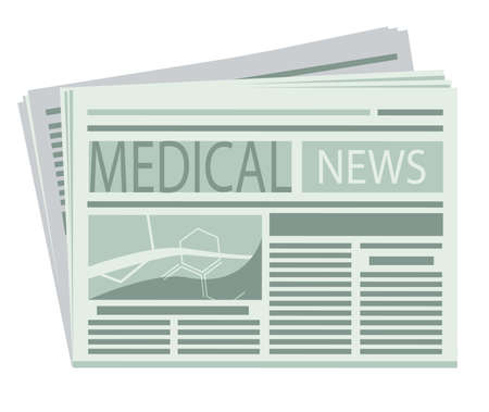 artikelen: Medische Krant Stock Illustratie