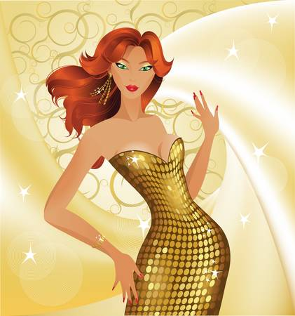 modern dancer: Beautiful fashion girl  Illustration