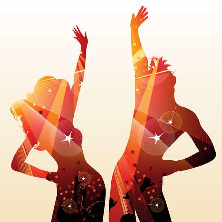 clubbers: pareja en discoteca