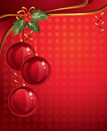 three wishes: red christmas backdrop  Illustration