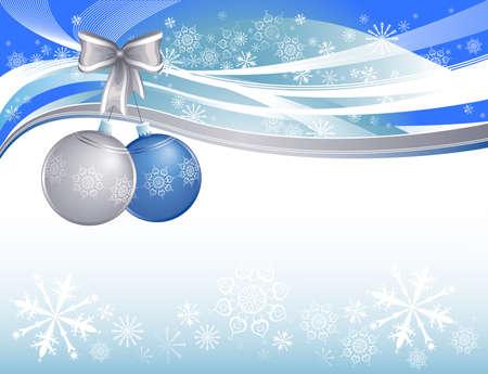 snow christmas background Stock Vector - 15369954