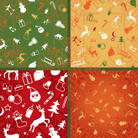 christmas decorative pattern of endless plane  Vector