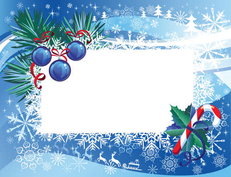 christmas background with visit card Stock Vector - 15369965