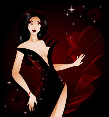 evil girl: halloween vampire lady
