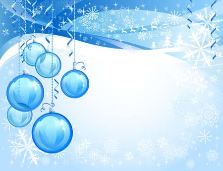 Blue glass christmas balls  Stock Vector - 15362357