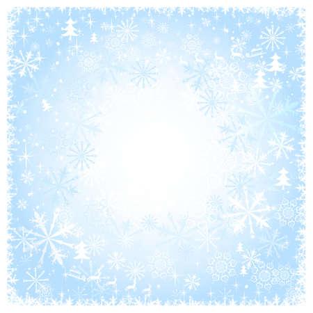 Blue snowy Christmas background  Illustration
