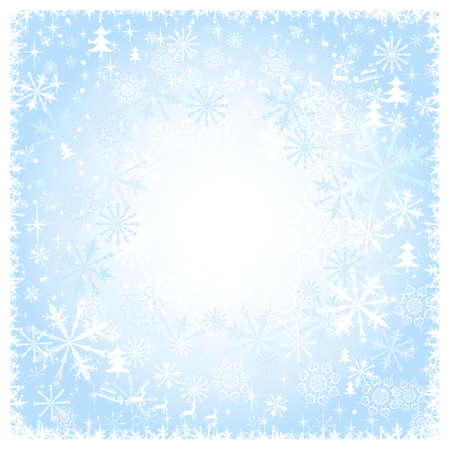 Blue snowy Christmas background  Stock Vector - 15362341
