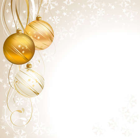good-looking Christmas backdrop with three balls  Illustration
