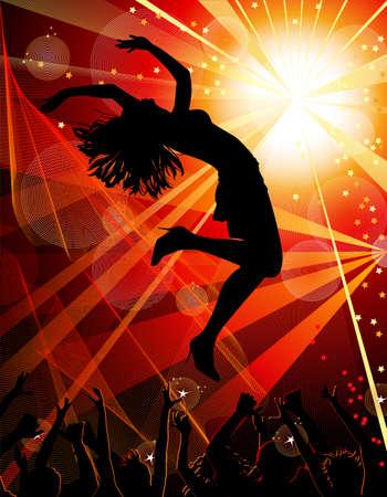 clubbers: Dancing ni�a en el club nocturno