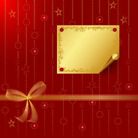 greetingcard: red Christmas backdrop with greeting-card