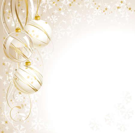 good-looking white Christmas backdrop Stock Vector - 15362328