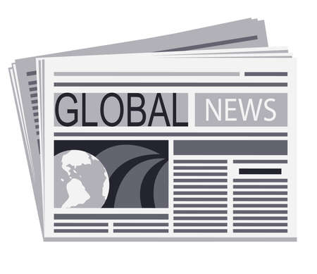 Newspaper of global news  Stock Vector - 15362326