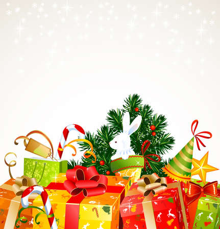 hubcap: a lot of Christmas presents