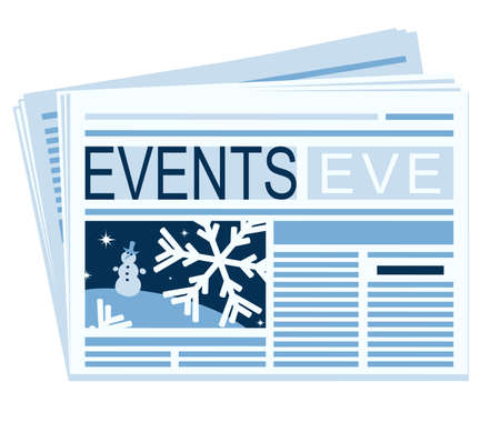 a chronicle of the last festive events is in a newspaper Stock Vector - 15358518