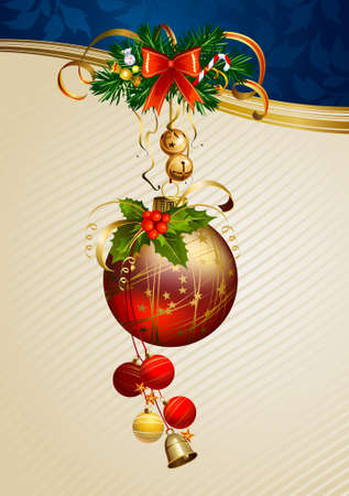 glimmered: shiny bauble on the beige background