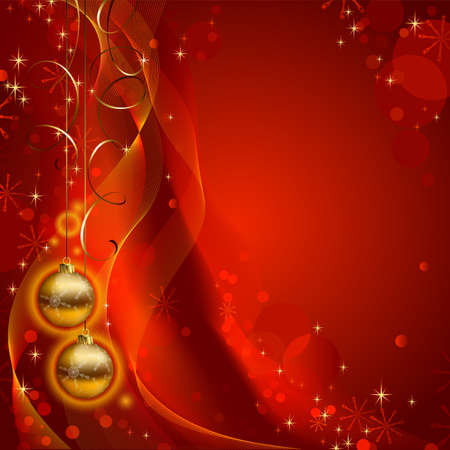 Shiny Christmas backdrop with two evening balls  Vector