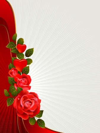 love rose: Valentine s para tarjetas de felicitaci�n Vectores