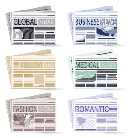 set of six Newspapers  Vector