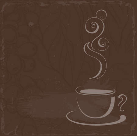 deliciously: cup of hot black coffee