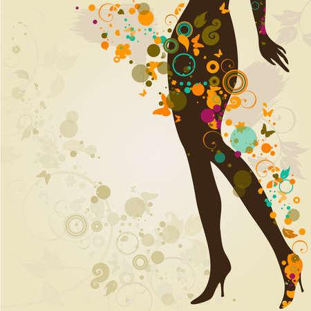 donna farfalla: Donna s gambe sottili