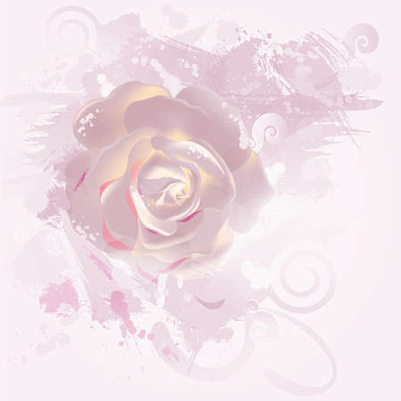 mixed flower bouquet: decorative composition with big pink rose