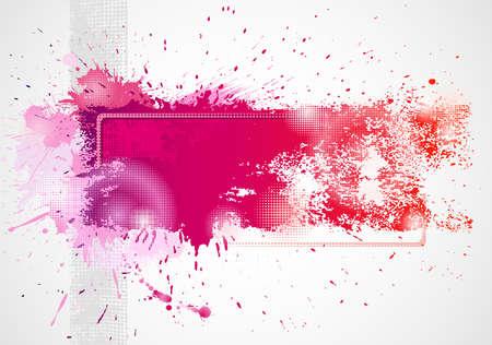 splodge: Background drawing by brush Illustration