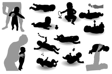 stretches: Twelve child s images Illustration