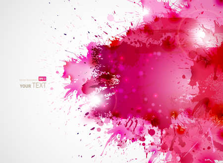 splatter: Abstract artistic Background forming by blots