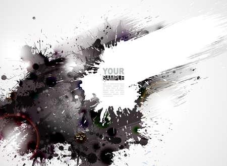 abstrato: Abstract grunge artístico formando por borrões