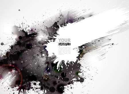 abstrakt: Abstrakt grunge konstnärlig bakgrund formning av blottar Illustration