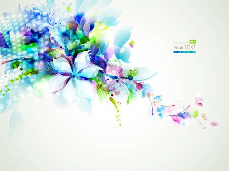 tierno: composici�n abstracta con flores tiernas