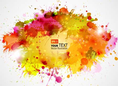 splatter: Fondo artístico abstracto de colores del otoño