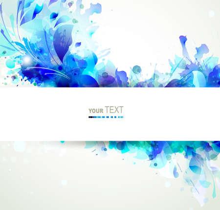 Zusammenfassung Hintergrund mit blauen Blumen Illustration