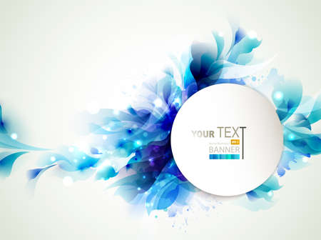 Background with Abstract blue elements Vector