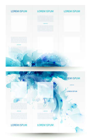 blob: Brochure backgrounds with Abstract blue elements  Illustration