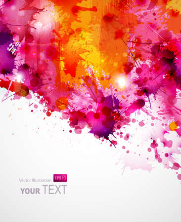 Abstract artistic Background of bright colors  Vector