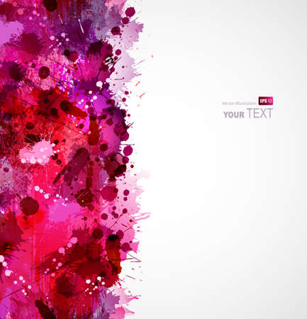 spatter: Abstract artistic seamless border forming by blots