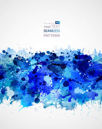 seamless pattern forming by blots