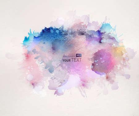abstrakt: vattenfärg fläckar Illustration
