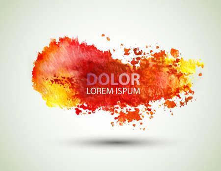 dab: red watercolor blot  Illustration