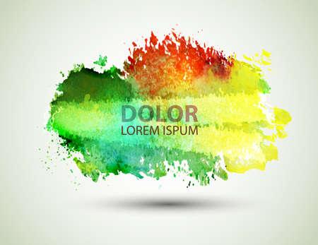 Bright green-yellow watercolor blot 版權商用圖片 - 24511890