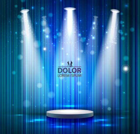 blue spotlight: spotlight effect scene background