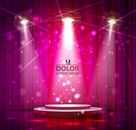 stage curtain: spotlight effect scene background
