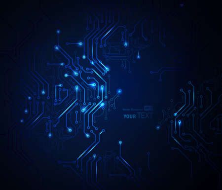 デジタル技術の抽象的な背景が青  イラスト・ベクター素材