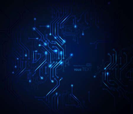 디지털 기술의 파란색 추상적 인 배경