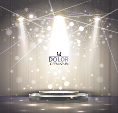 entertainment event: spotlight effect gray scene background