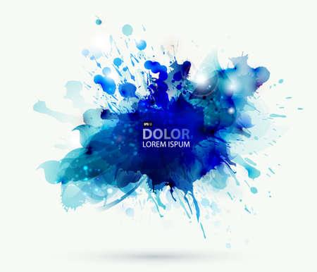 Zusammenfassung künstlerischen Element, das durch Blots Standard-Bild - 24511891